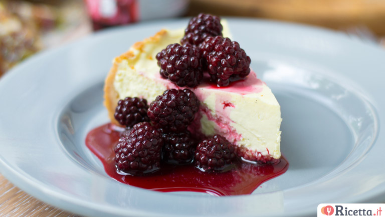Cheesecake alle more con cottura