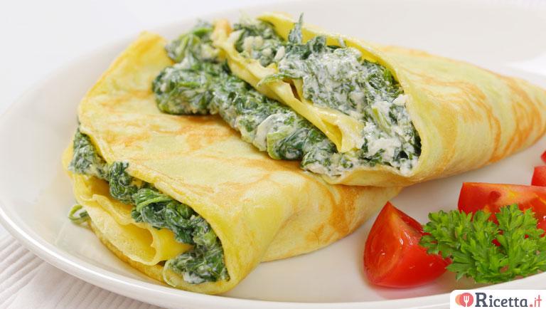 Ricetta Omelette Ricotta E Spinaci.Ricetta Crepes Ricotta E Spinaci Consigli E Ingredienti Ricetta It