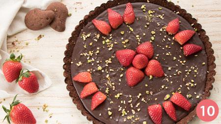 Crostata al cioccolato senza cottura - Passaggio 10