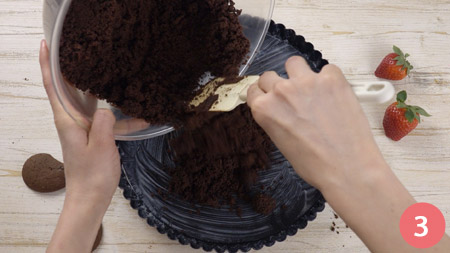 Crostata al cioccolato senza cottura - Passaggio 3