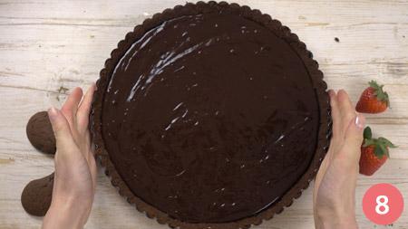 Crostata al cioccolato senza cottura - Passaggio 8