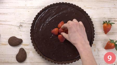 Crostata al cioccolato senza cottura - Passaggio 9