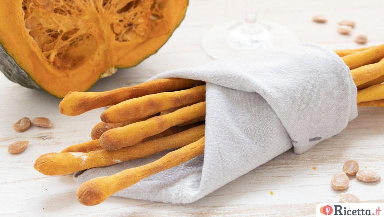 Ricetta Grissini Con Semi Di Zucca.Ricetta Grissini Alla Zucca Consigli E Ingredienti Ricetta It