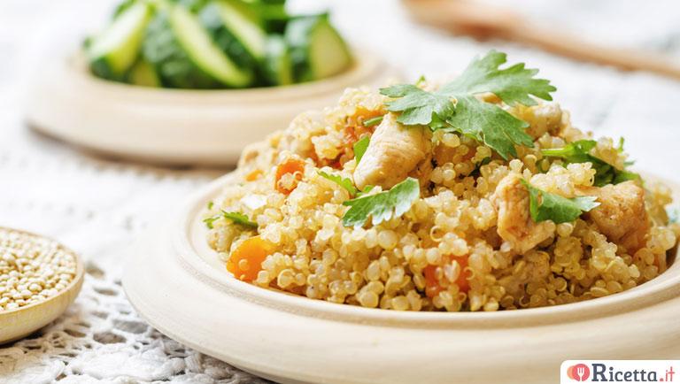 Ricette Con Quinoa Pollo E Verdure.Ricetta Insalata Di Quinoa Con Pollo E Verdure Consigli E Ingredienti Ricetta It