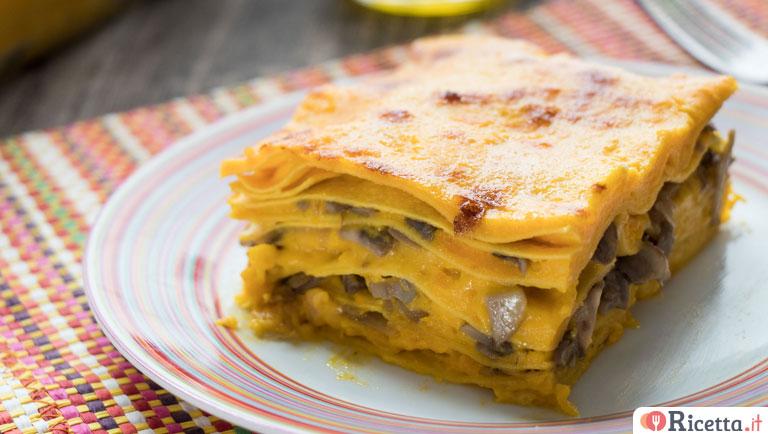 Ricetta Lasagne Di Zucca.Ricetta Lasagne Con Zucca E Funghi Consigli E Ingredienti Ricetta It