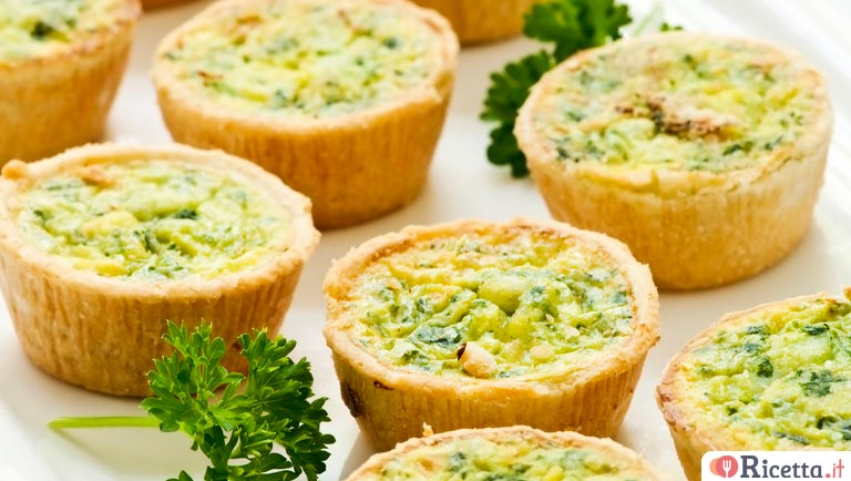 Mini quiches ai porri
