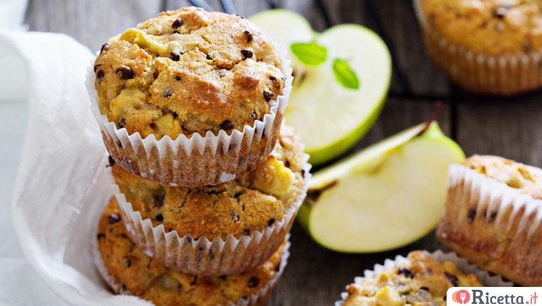 Ricetta Muffin Di Mele.Ricetta Muffin Alle Mele E Cioccolato Consigli E Ingredienti Ricetta It