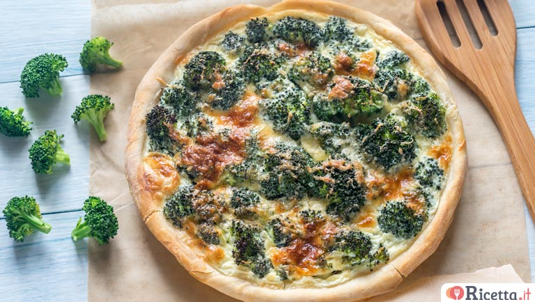 Quiche di broccoli e pancetta