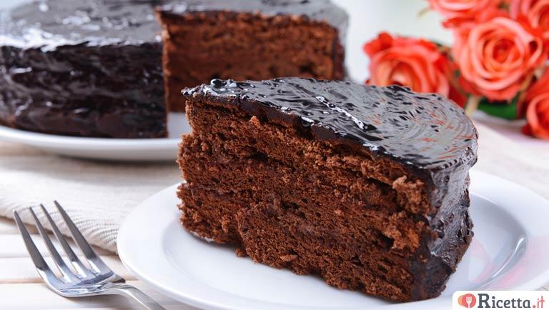 Ricetta Torta Senza Burro.Torta Al Cioccolato Senza Burro E Senza Olio